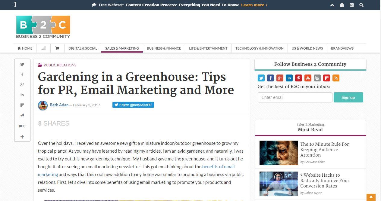 The greenhouse pr -  Greenhouse Pr Advice On Business 2 Community Elizabeth Adan